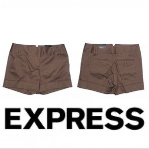 NWT EXPRESS Brown Shorts SZ 2